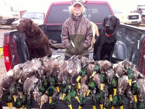 Fleeman With Duck Dogs | Arkansas Wild Magazine