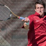 Razorbacks Dominate Tennis Doubleheader