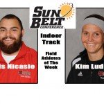 Ludick and Nicasio of Red Wolves Track Team Claim Conference Honor
