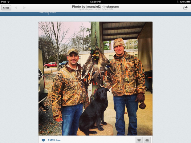 "Johnny ""Football"" Manziel Duck Hunts in Stuttgart Arkansas"