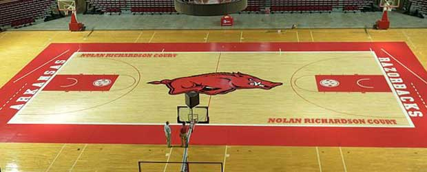 Nolan RIchardson Court at Bud Walton Arena