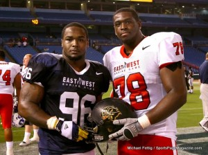 Terron Armstead at East West Shrine Game