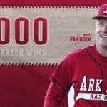 Van Horn Earns 1,000th Win as Razorbacks  Sweep DH