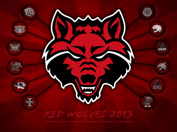 Arkansas Colleges Football Schedules - 2013 Arkansas State Red Wolves
