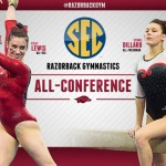 Four Razorback Gymnasts Earn All-SEC Honors