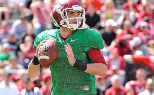 Razorbacks quarterback Brandon Allen