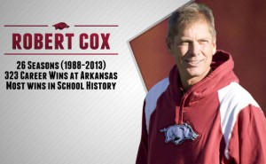 robert cox razorbacks tennis coach