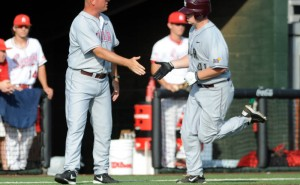 UALR Trojans' Sam Vogel with a homerun