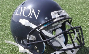 Lyon College football helmet