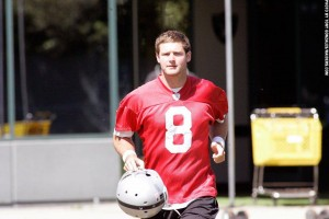 Tyler Wilson at Raiders minicamp 2