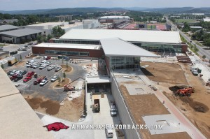 Arkansas Razorback football center top-exterior