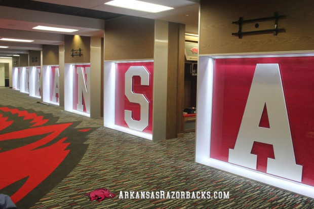 Arkansas Razorbacks locker room 1