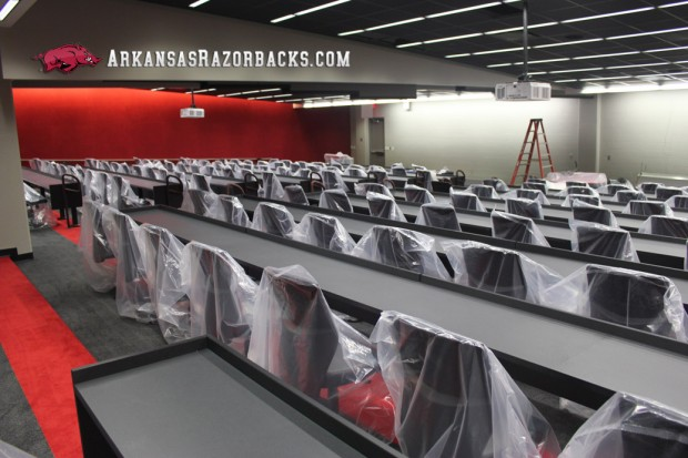 Arkansas Razorbacks team meeting room