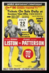Arkansas native sonny liston vs patterson poster