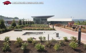 Razorback football center landscaping