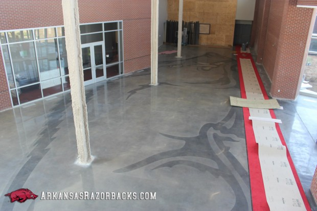 Razorback football center lobby