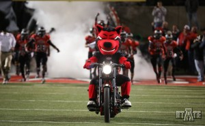A-State Red Wolves Football Announce Parking Procedures howl on a motorcycle