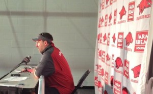 Bret Bielema discusses Mekale McKAy and other topics following practice 1