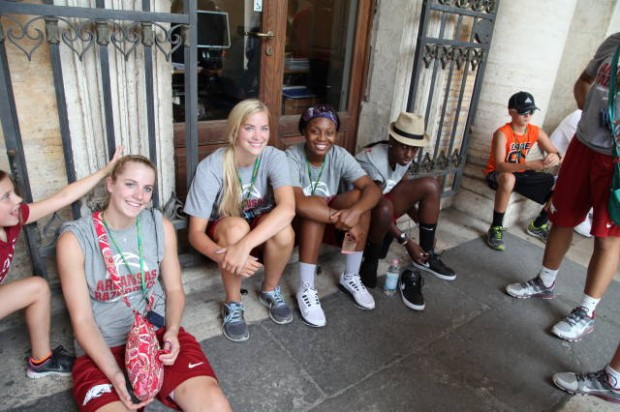 Razorback women's basketball team in italy 2