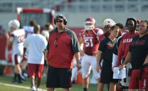 Razorbacks-ragin cajuns game practice photo