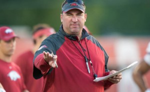 Bret Bielema razorbacks in little rock