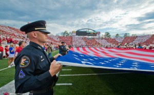 War Memorial Stadium Military Appreciate Day