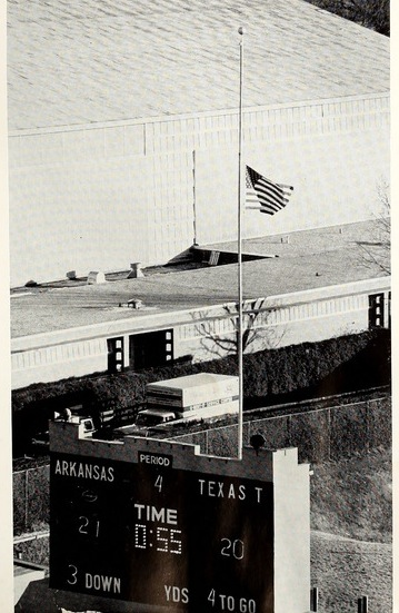 50 Years Ago - The JFK Assassination and a Razorback Game flag