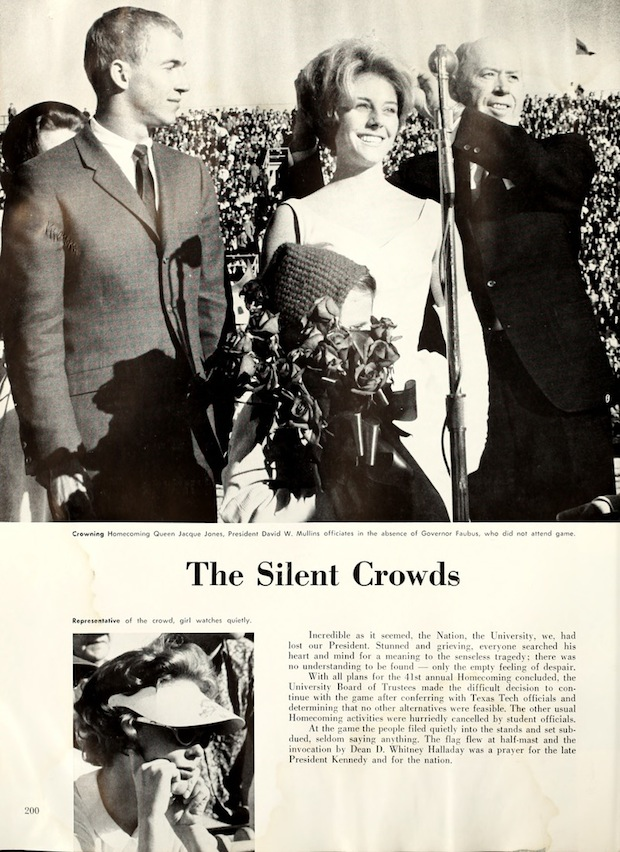 50 Years Ago - The JFK Assassination and a Razorback Game homecoming court