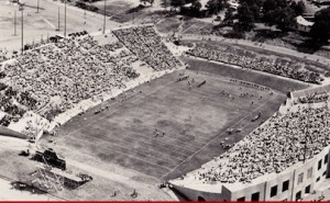 war memorial stadium dedication game