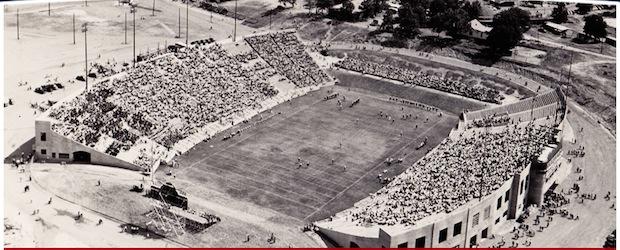 war memorial stadium dedication game