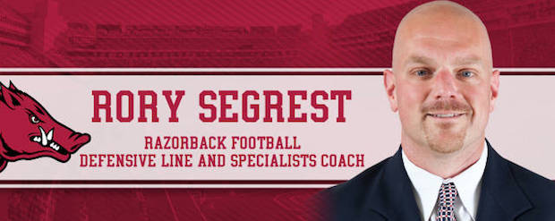 Rory Segrest Hired as Razorbacks Defensive Line Coach
