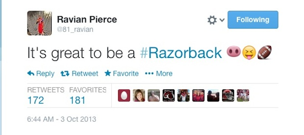 ravian pierce october arkansas razorback recruiting