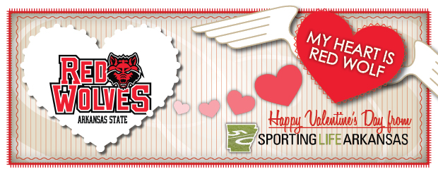 Valentine's Day Red Wolves