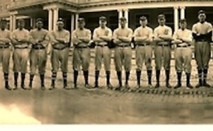 brooklyn dodgers in 1911 spring training in front of the majestic hotel in hot springs