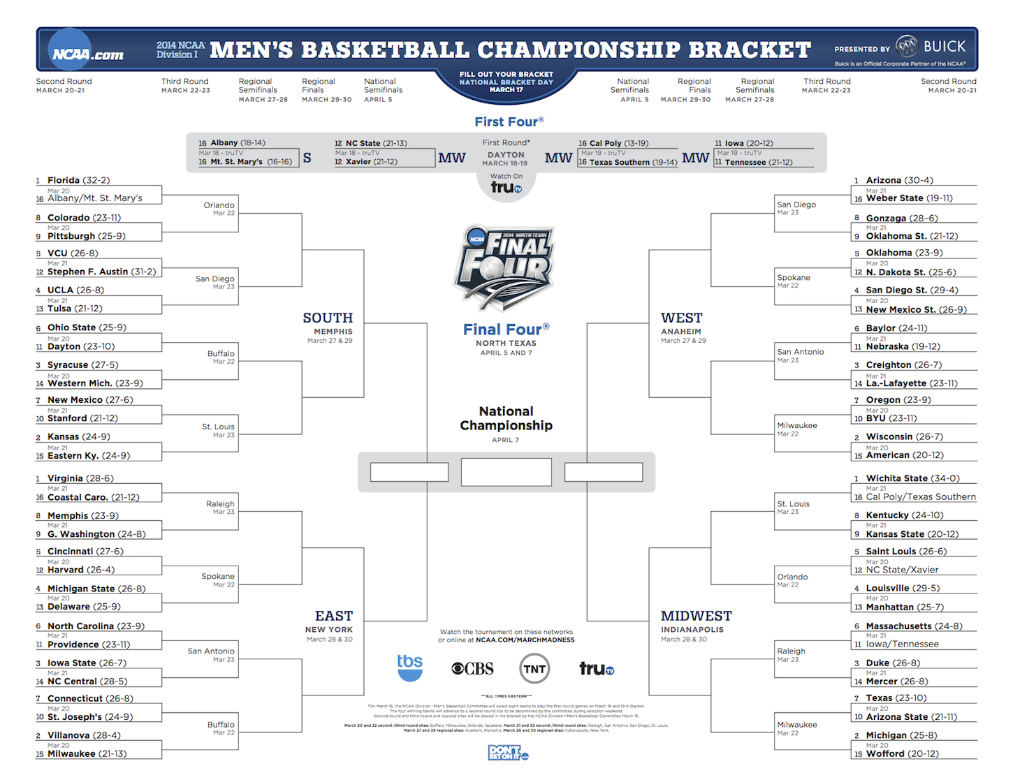 Join Our 2014 Ncaa Tournament Bracket Challenge
