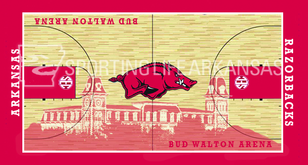Razorback Court with Old Main