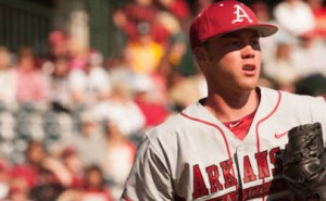 arkansas baseball team gets win over alabama