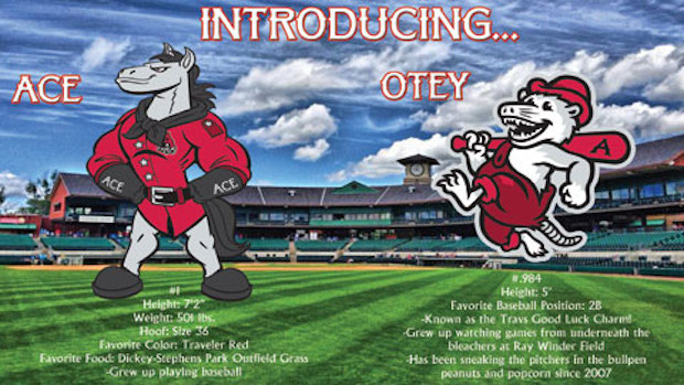 arkansas travelers mascots