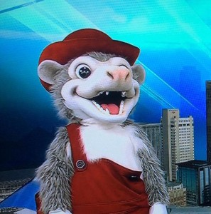 new arkansas travelers mascot Otey the Swamp Possum