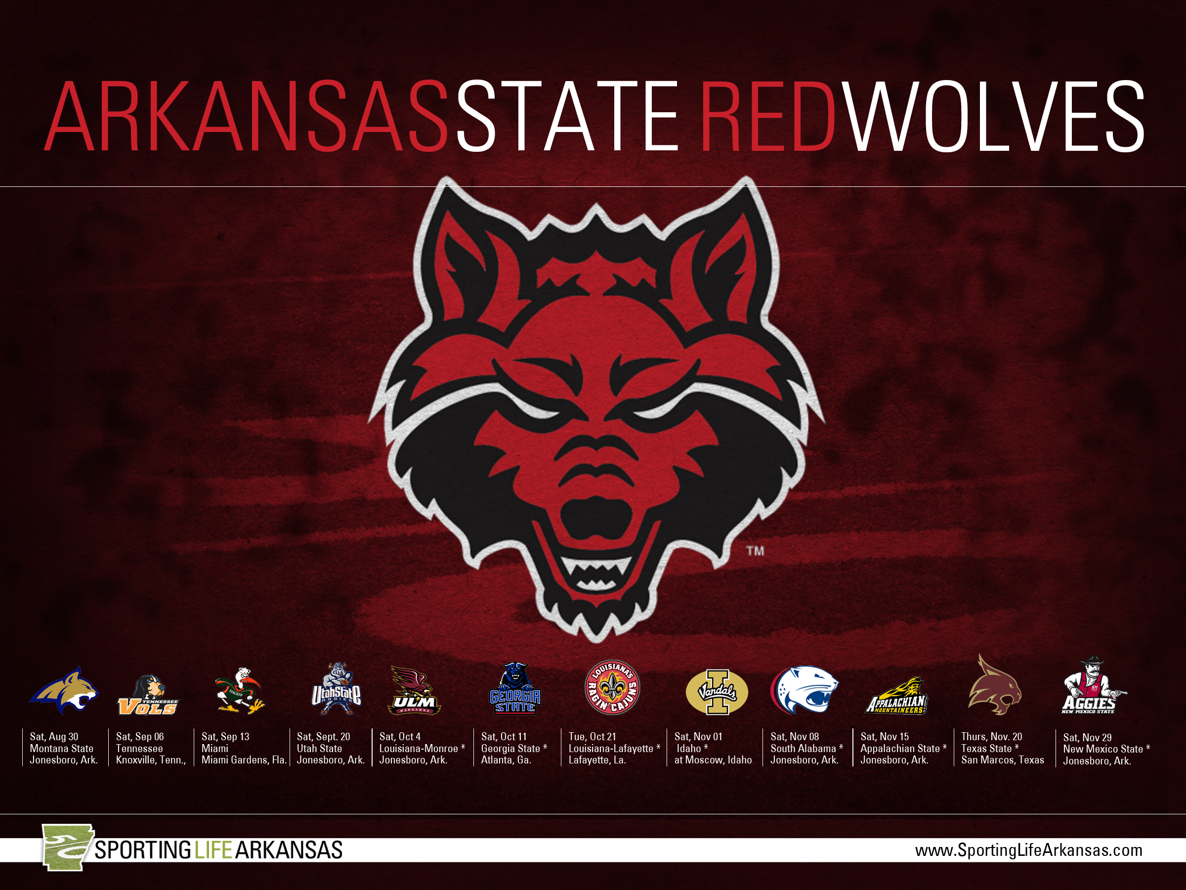 2014 arkansas state red wolves football schedule wallpaper