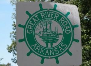 great arkansas delta food tour river road sign