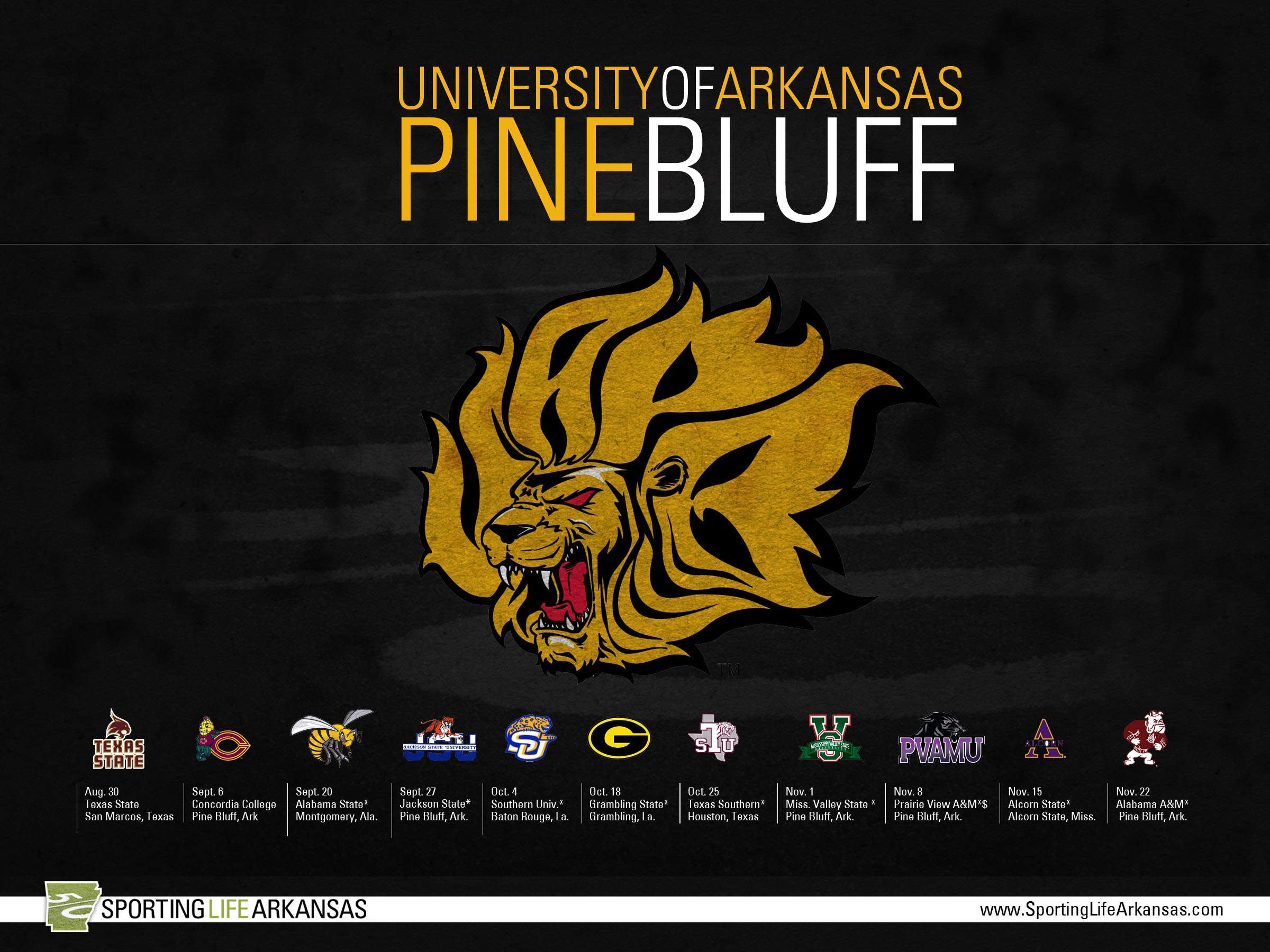2014 Uapb Golden Lions Football Schedule Wallpaper