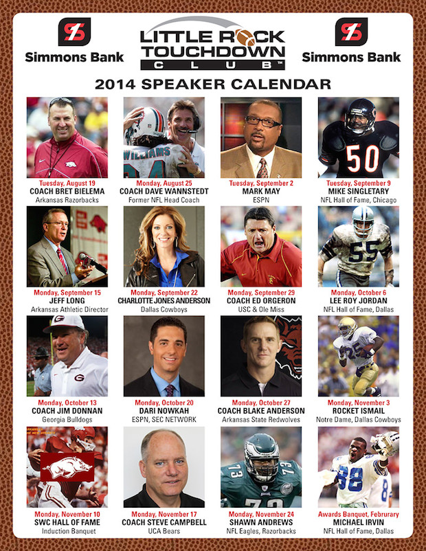 little rock touchdown club 2014