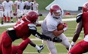 reddies show speed in scrimmage
