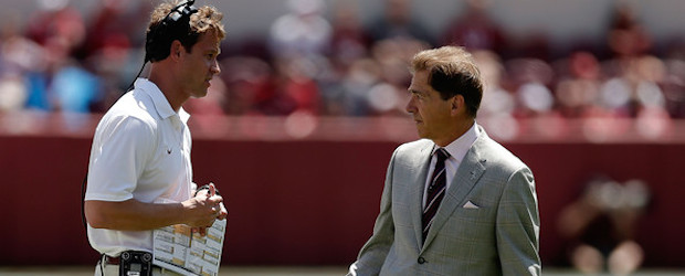 quarterback lane kiffin with saban