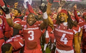 razorbacks rain on Rebels parade