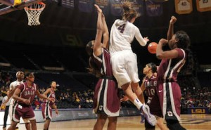 ualr women basketball upsets LSU
