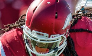 Alex Collins for the Razorbacks in loss to Toledo
