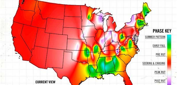 Rut Heat Map Whitetail Activity & Rut Report   Interactive Map   Sporting Life  Rut Heat Map