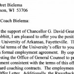 Letter of Agreement between UA, Bielema
